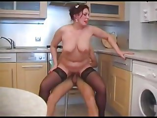 Housewife milf gets fucked by lucky guy