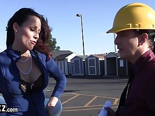 Beautiful MILF Boss Fucks the Foreman!