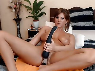 Nice breast girl dildo + and + vibrator