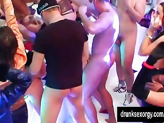 Bisexual pornstars fucking hard in a club