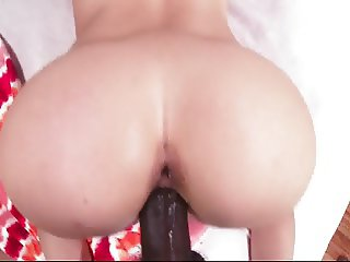 Babe doggy riding big black dick