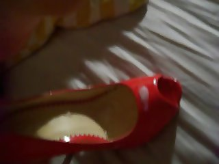 Shoejob peeptoes rouge de mon ex