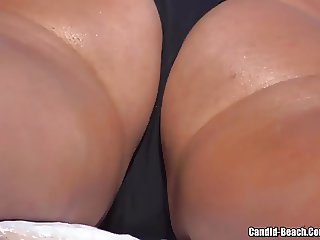Sexy beach thongs Voyeur spycam