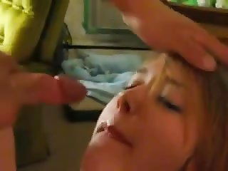 Cumming on a bitch's face while my friend films