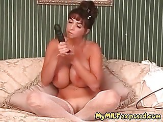 My MILF Exposed Busty Summer in fishenets pierced pussy