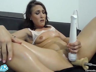 amateur charley taking huge fuckbot dick