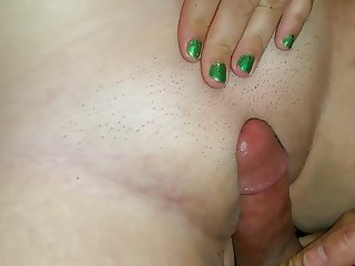 Baby girl gets a messy cream pie