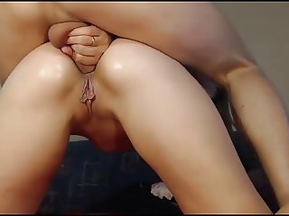 Vocal russian blonde fucked hard in ass