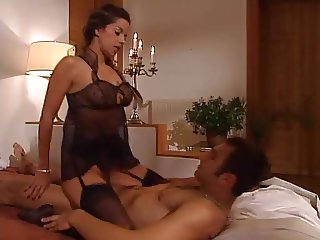 Janet Taylor fucking in black stockings