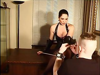German Mistress Caning salave