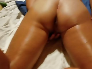 Wife spreading her ass