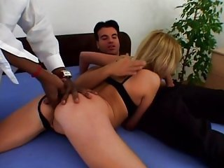 Melissa Black - Double anal plugged