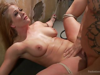 MILF Gets Ass Fucked in Tight Bondage