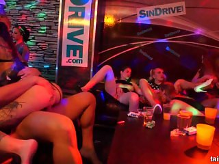 Sexy pornstars fucking in club groupsex