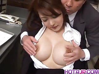 Mei Sawai has boobs fondled and is pumped