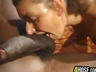 European Whore And A Black Cock