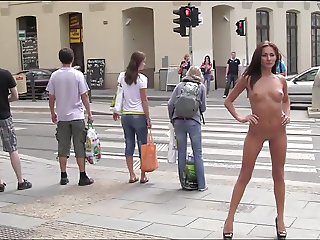 Michaela nude in public