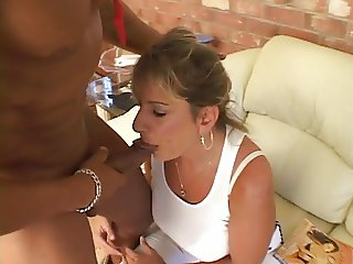Bitch in heat chases a big black cock