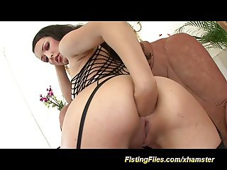 her first self anal fisting