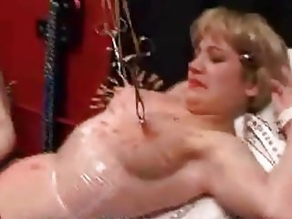 Blond slave pincushion boobs 1 of 2