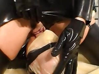 pussy licking in latex