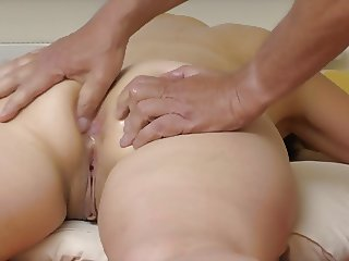 my wife, big butt and asshole massage, strong orgasm