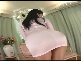 Japanese av model shame ! voyeur : hairy pussy through pantyhose ! 5