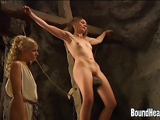 Busty Mistress Masturbating In Bath And Slave Gets Whipped