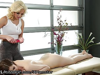AllGirlMassage Stella Cox Learns to Let Go
