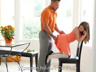 Passion-HD - Guy fucks his step daughter Carolina Sweets on Thanksgiving