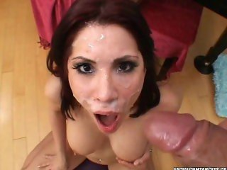 Aleksa Nicole blow and Play for a Huge Great Facial