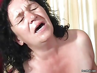 Granny Tries Anal With Young Guy
