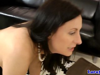 Mature euro pussylicked and straponfucked