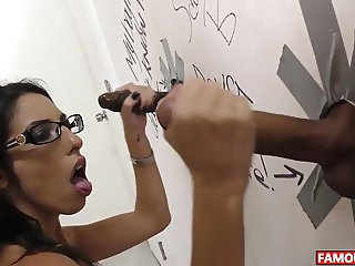 Dava Foxx Gets The Biggest Glory Hole Cock
