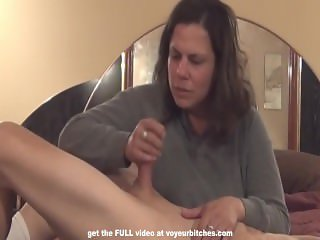 cfnm milf abuses and beats off nude male