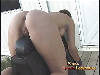Foxy brunette slut Kimberly enjoys being bound and having he