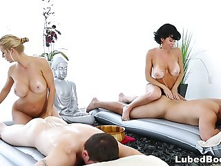 Foursome Massage with Veronica Avluv and Alexis Fawx