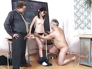STP3 Truculent Schoolgirl Enjoys Her Double Punishment !
