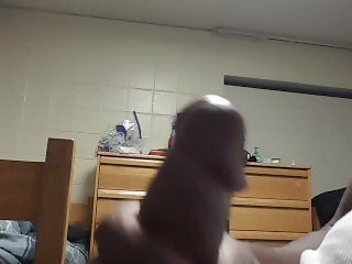 College Student Jerks Off While Roommate Is Away
