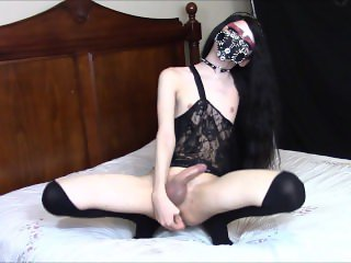 Gothic Living Doll Tgirl Plays With Toys #1