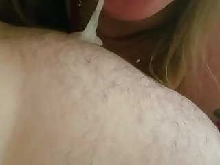 Bbw blowjob with cum in mouth