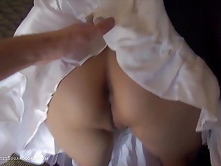 Bad maid have sex on the sofa
