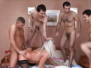 51yr Old Granny Elaine Gets DP Gangbang