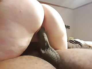 Married black cock slut riding BBC