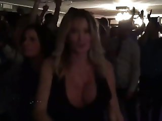 Busty MILF partying