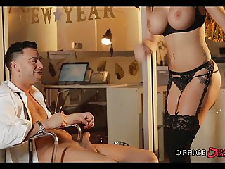 Big Tit Coworker Fucks at Office Party