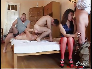 Slut Euro matures perverse home porn party
