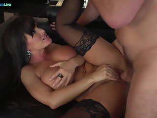 Juicylicious Milf Lisa Ann in stockings always a fan of huge cocks