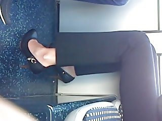 candid sexy heels with face my stepsister stephanie in tram