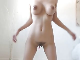 Big boobs tits dark nipples pubes shaved meaty pussy
